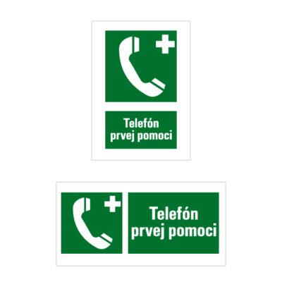 E 010 Núdzový telefón pre prvú pomoc alebo únik