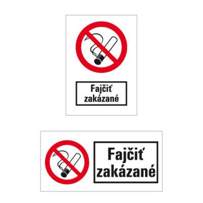 P 001 Zákaz fajčenia