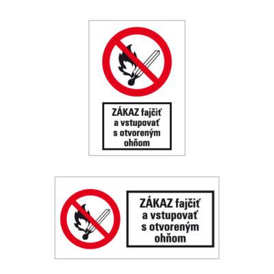 P 002 Zákaz fajčenia a používania otvoreného ohňa