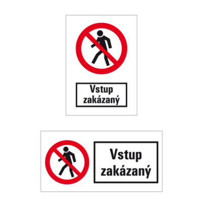 P 003 Zákaz vstupu pre chodcov