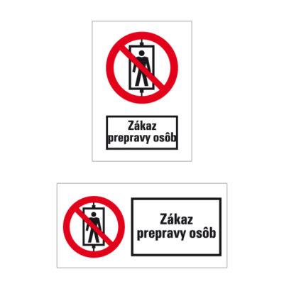 P 013 Zákaz prepravy osôb