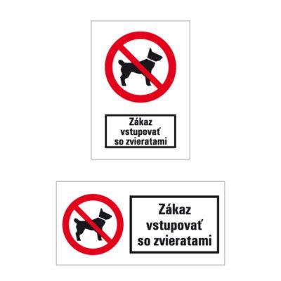 P 014 Zákaz vstupovať so zvieratami