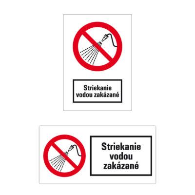 P 017 Zákaz striekania vodou