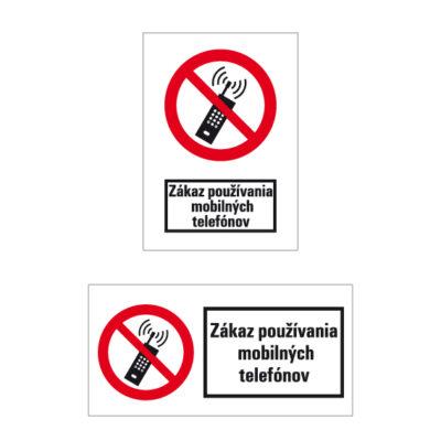 P 018 Zákaz používania mobilných telefónov