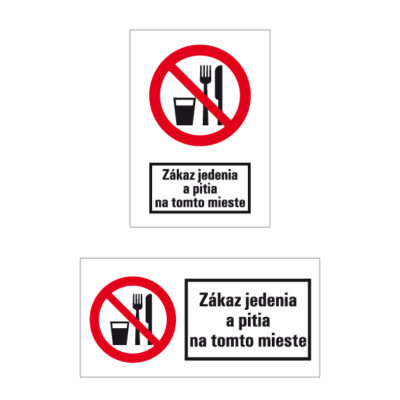 P 030 Zákaz jedenia a pitia na tomto mieste