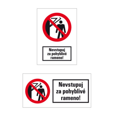 P 032 Zákaz vstupu za pohyblivé rameno