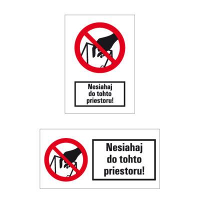 P 033 Zákaz siahania do plniaceho otvoru
