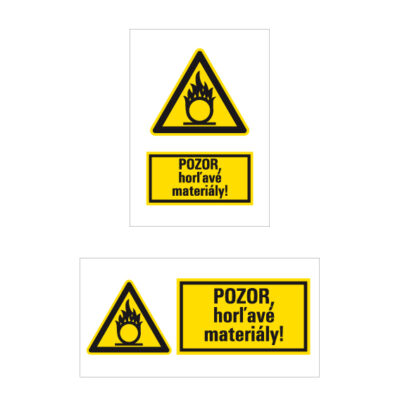 W 011 Nebezpečenstvo látky podporujúcej horenie